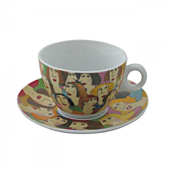 Cappuccino kop & schotel Small Talk
