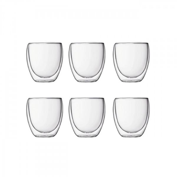 Glas Pavina doppelwandig 0,25L 6er Set BOD53033