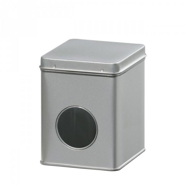 Theeblik met venster | zilver | 100 gr