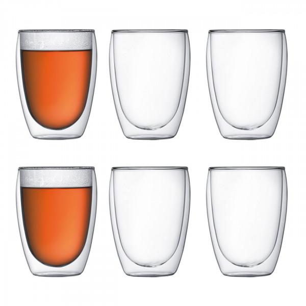 Glas Pavina doppelwandig 0,35L 6er Set BOD53033