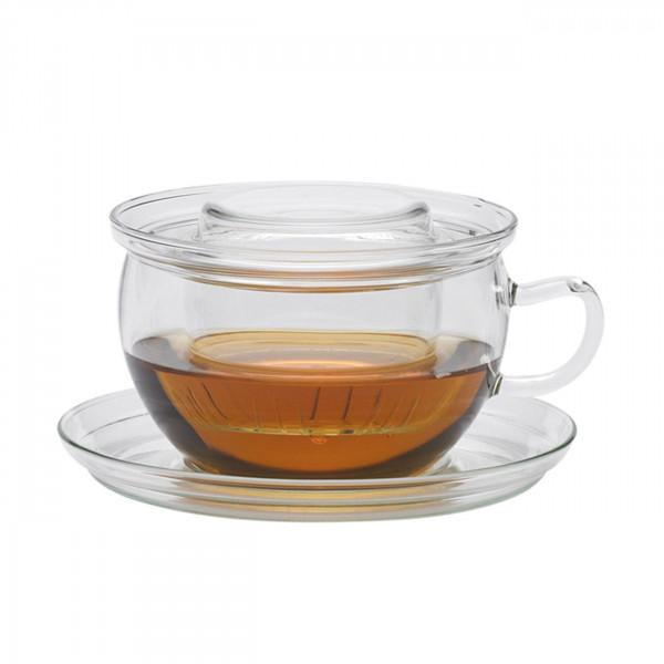Glastasse Tea Time m. Deckel und Filter Glastasse Tea Time m. Deckel und Filter