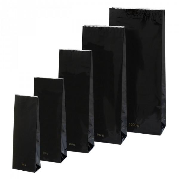 Blokbodem zakje zwart hoogglans 50 g