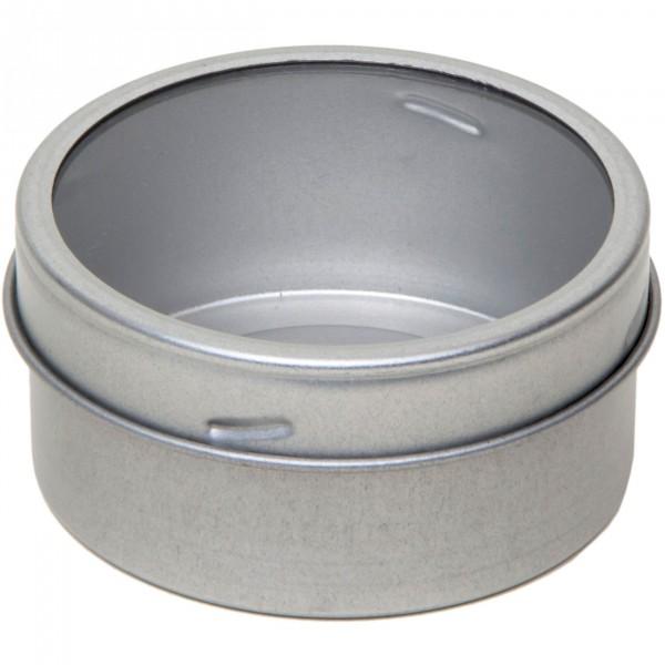 Dose rund Ø65 x 30 mm mit Fenster und Magnet