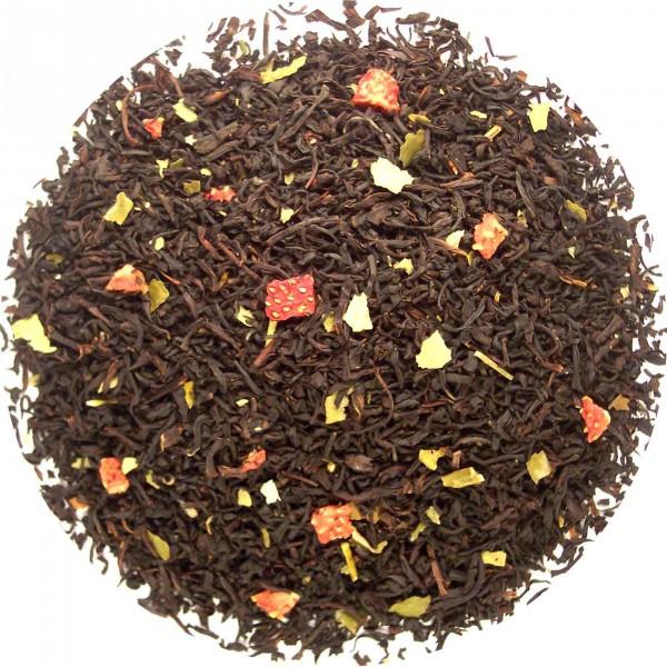 Aardbeien creme thee
