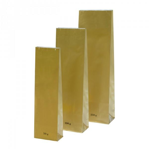 Blokbodem zak goud Hoogglans 100g